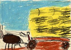 Frumento mietuto, G. Busato, 1961. Archivio storico Indire.