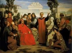 Natalizi e parentali di Platone, celebrati nella villa di Careggi da Lorenzo il Magnifico, Luigi Mussini, 1862 - Banca Dati Dia