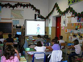 attività in classe con la lavagna interattiva