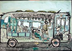 Dentro l'autobus, K. Yasushi. Collezione PInAC