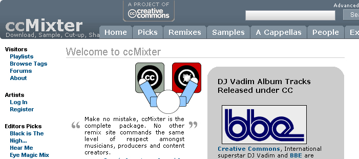 Home di cc mixter