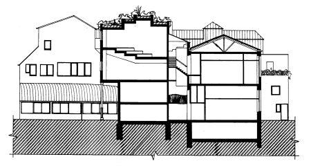 ... disegno. Sul tetto ? visibile il piccolo giardino, inaccessibile e