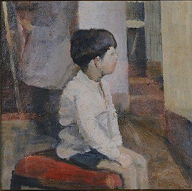 bambino seduto