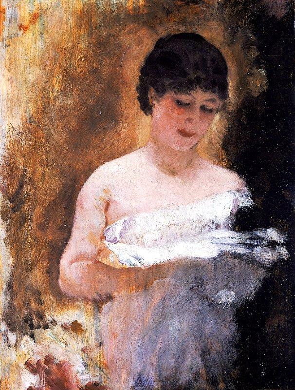 ritratto di ragazza che legge; bozzetto di De Nittis