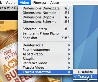 schermata video