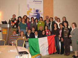 Partecipanti italiani alla conferenza etwinning2007 (foto dal sito www.bdp.it)