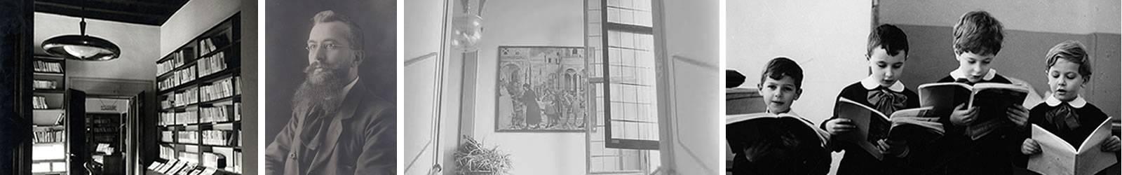 immagini della storia di indire: Lombrado adice, foto bilioteca anni 50, foto storica di una classe