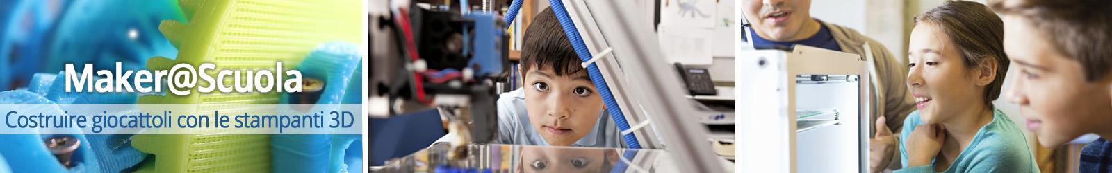 maker a scuola, costruire giocattoli in 3d