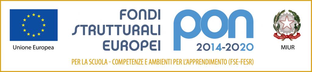 Loghi PON 2014-2020 (fse-fesr) corto