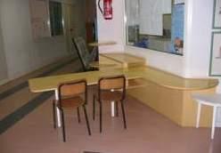 """Particolare della penisola nel corridoio della scuola elementare """"Don Rinaldi"""", Roma"""
