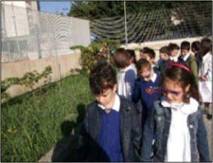 bambini nel cortile scuola