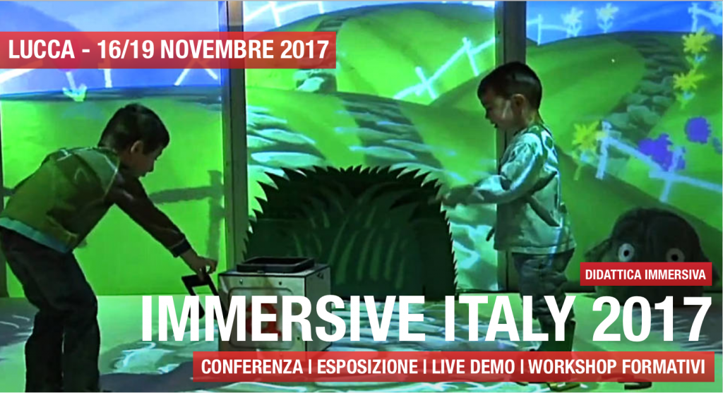 Esperienza immersiva di due ragazzi in un laboratorio