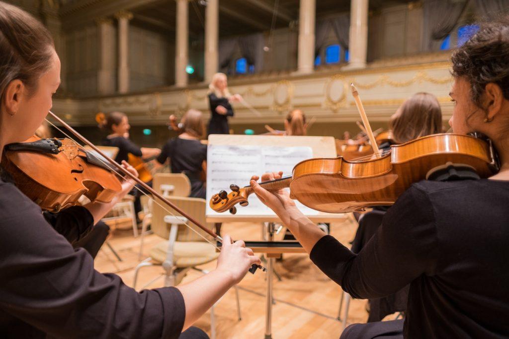 primo violino in una orchestra