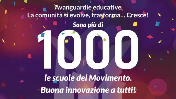 Avanguardie Educative, il Movimento arriva a 1.000 scuole iscritte