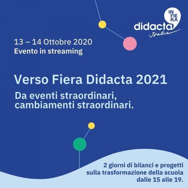 Verso Fiera Didacta 2021: evento in streaming il 13 e 14 ottobre